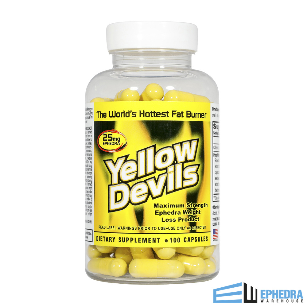 Yellow Devils Ephedra T Pills
