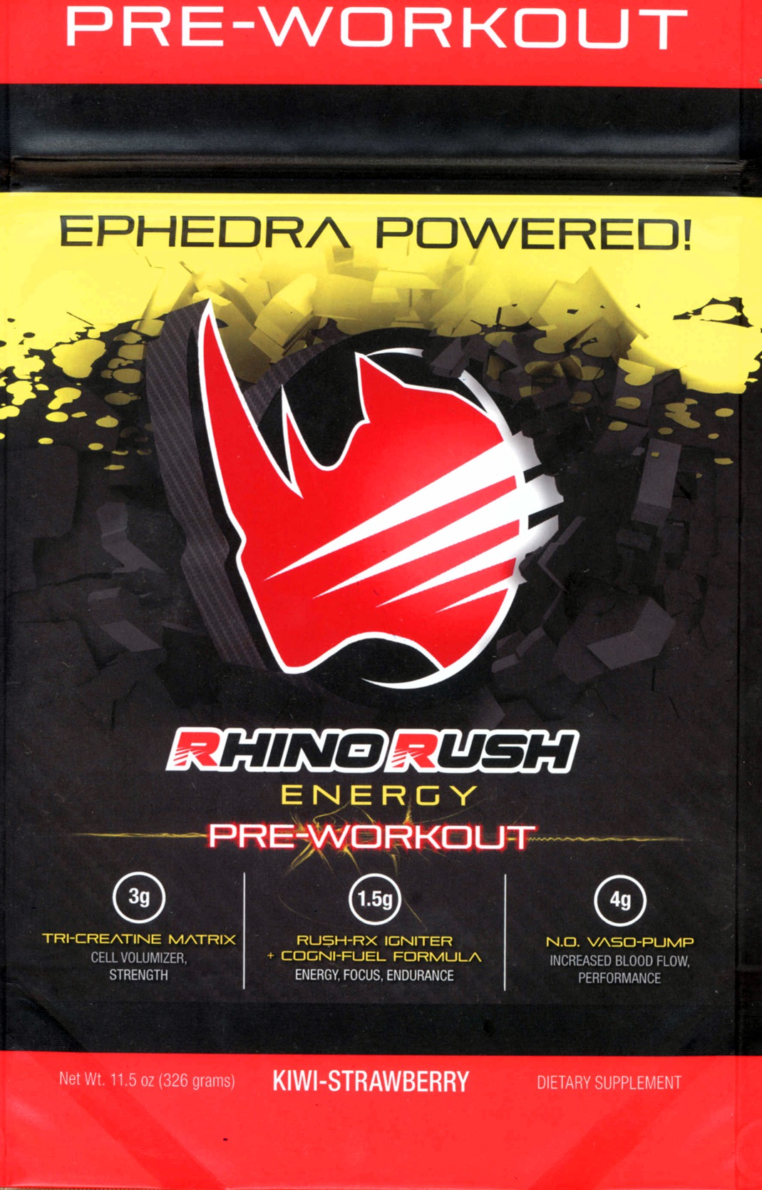 Rhino Rush Pre-Workout Powder
