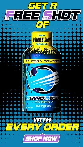 Rhino Rush Shot Blue Raspberry